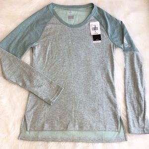 Adidas • Climalite Mint Green Long Sleeve